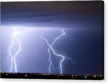 The Lightning Man Canvas Print - X In The Sky by James BO  Insogna