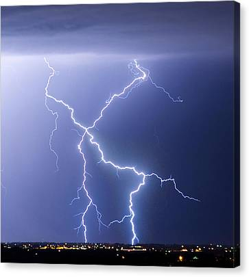 X Lightning Bolt In The Sky Canvas Print by James BO  Insogna