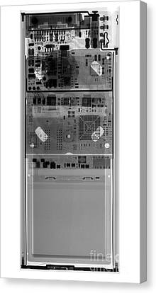 X-ray Of An Ipod Canvas Print by Ted Kinsman
