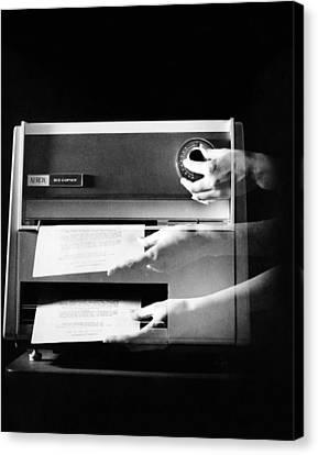 Xerox 813, The First Desktop Canvas Print by Everett