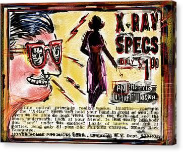 Ephemera Canvas Print - Xray Specs by Russell Pierce