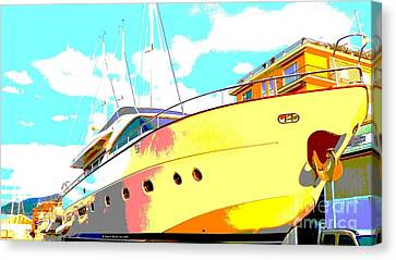 Yacht Dry Docking Canvas Print