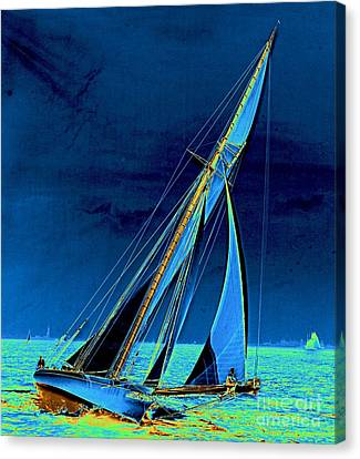 Yacht Shamrock In New York Harbor 1895 Canvas Print by Padre Art