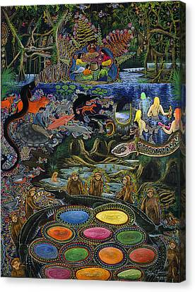 Canvas Print - Yacuruna Huasi by Pablo Amaringo