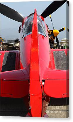 Yak 9u Airplane . 7d15803 Canvas Print by Wingsdomain Art and Photography