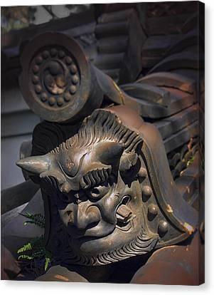 Yakushi-ji Temple Gate Gargoyle - Nara Japan Canvas Print by Daniel Hagerman