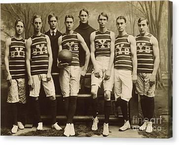 Yale Basketball Team, 1901 Canvas Print by Granger