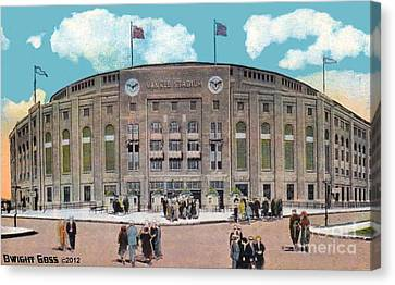 Yankee Stadium C.1930 Canvas Print by Dwight Goss