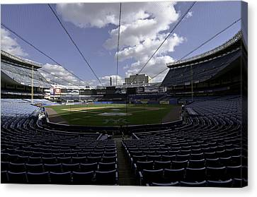 Canvas Print featuring the photograph Yankee Stadium  by Paul Plaine