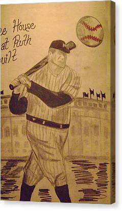 Yankees Canvas Print by Paul Rapa