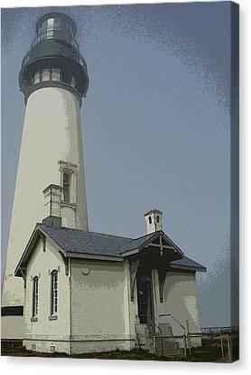 Canvas Print - Yaquina Head Lighthouse Newport Oregon by Glenna McRae