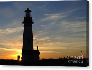 Yaquina Lighthouse Canvas Print by Bob Christopher