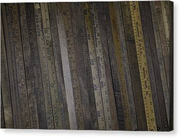 Yardsticks - Aged 18 Inch Closer 1 Canvas Print