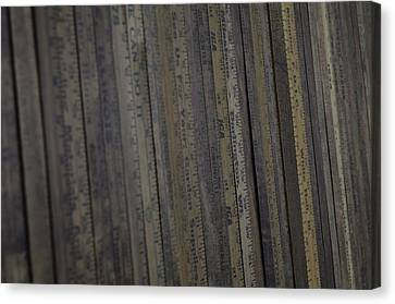 Yardsticks - Aged 18 Inch Closer 21 Canvas Print by Kurt Olson