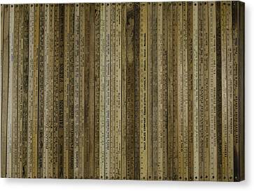 Yardsticks - Tan Canvas Print