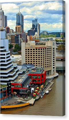 Yarra River City Block Of Primary Colors Canvas Print