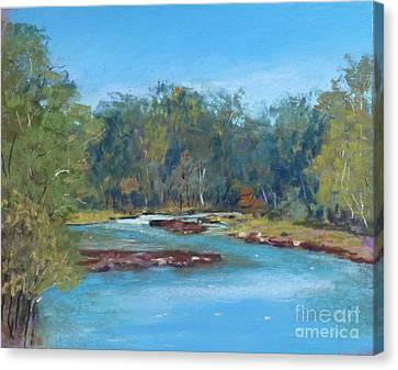 Yarra River Warrandyte Canvas Print by Nadine Kelly