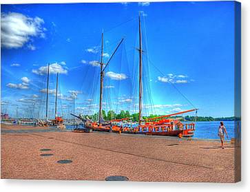 Yatchs Canvas Print by Barry R Jones Jr