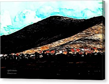 Ye Mountains Of Gilboa  Canvas Print by Itzhak Richter