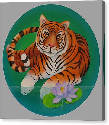 Year Of The Tiger Canvas Print by Marcia  Perry