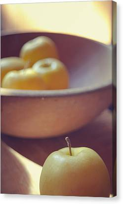 Yellow Apples Canvas Print by Toni Hopper