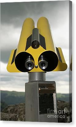Yellow Binoculars Canvas Print by Bernard Jaubert