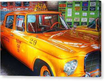 Yellow Cab No.29 Canvas Print by Dan Stone