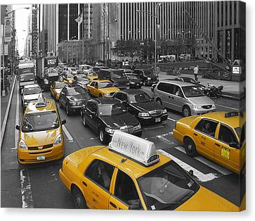 New York City Rush Hour Canvas Print
