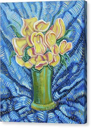 Yellow Callas Canvas Print by John Keaton