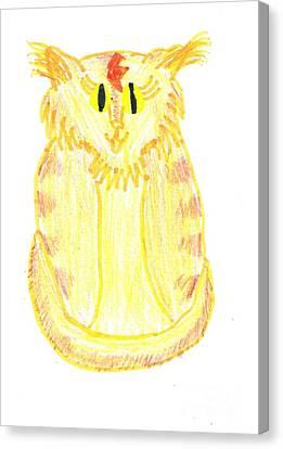 Yellow Cat Canvas Print by Jeannie Atwater Jordan Allen