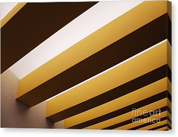 Yellow Ceiling Beams Canvas Print by Jeremy Woodhouse