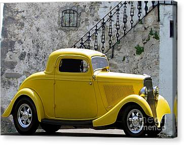 Yellow Coupe Hardtop Canvas Print by Jerry L Barrett