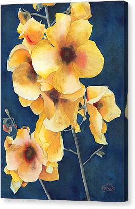 Yellow Flowers Canvas Print by Ken Powers