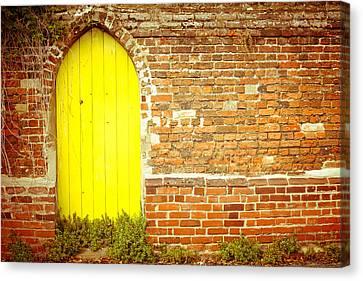 Yellow Gateway Canvas Print by Tom Gowanlock