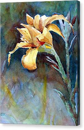Yellow Iris Canvas Print by Alan Smith
