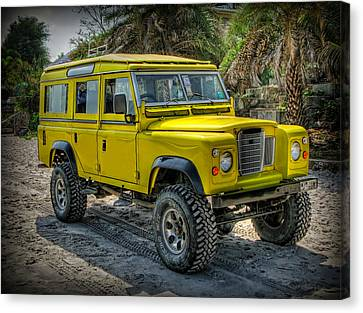 Yellow Jeep Canvas Print by Adrian Evans