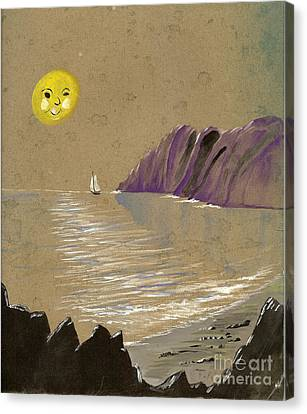 Yellow Moon Watch Canvas Print