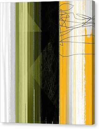 Yellow Rain Canvas Print by Naxart Studio