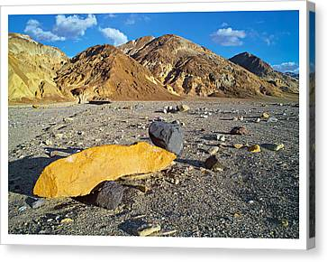 Yellow Rock At Death Valley Canvas Print by Laurence Matson