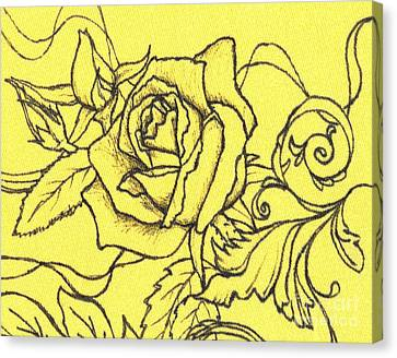 Yellow Rose Canvas Print by Denise Hoag