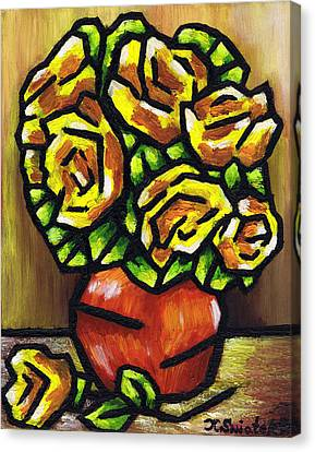 Yellow Roses Canvas Print by Kamil Swiatek