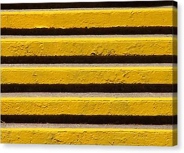 Yellow Steps Canvas Print by Steven Huszar
