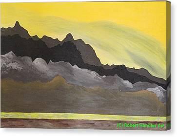 Yellow Sunset Canvas Print by Robert Handler