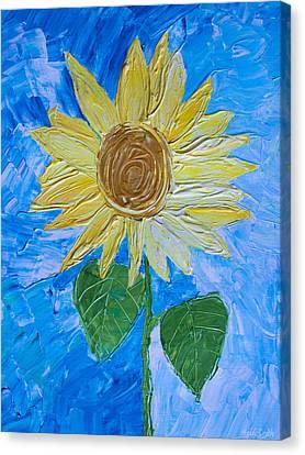 Yellow Sunshine Canvas Print by Heidi Smith