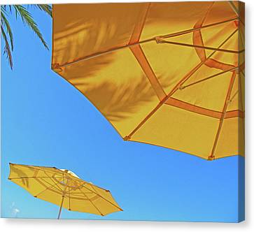 Canvas Print featuring the photograph Yellow Time  by Lizi Beard-Ward