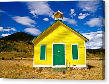 Yellow Western School House Canvas Print by James BO  Insogna