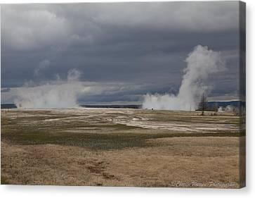 Yellowstone Geysers2 Canvas Print by Charles Warren