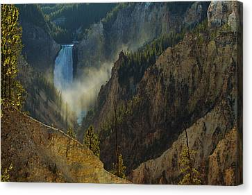 Yellowstone Lower Falls Canvas Print by Johan Elzenga