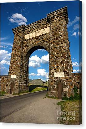 Yellowstone National Park Gate Canvas Print by Gregory Dyer