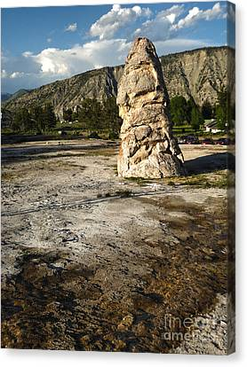 Yellowstone National Park - Mammoth Hot Springs Canvas Print by Gregory Dyer